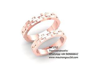 1312 wedding ring 3D print model