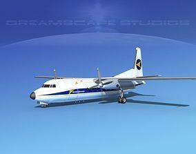 Fokker F-27 Denim Airways 3D model