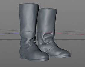 3D printable model boots