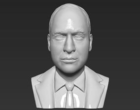 Prince William bust 3D printing ready stl obj formats