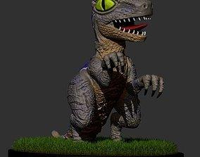 3D print model Velociraptor blue toon