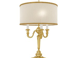 Arizzi 723 table lamp in gold finish 3D
