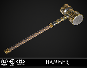 Fantasy Great Hammer 01 3D asset low-poly
