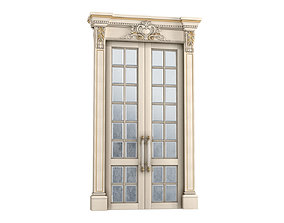 3D Sliding doors Aged Beveled Accent mirror