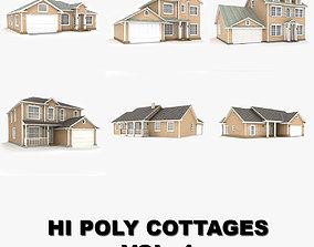 Hi-poly cottages collection vol 1 porch 3D