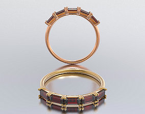 solitaire woman ring 3D printable model romance