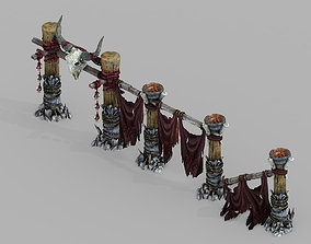 3D model Temple of Woma-Guardrail 02
