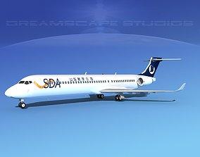 3D model Comac ARJ21-900 Shandong Airlines