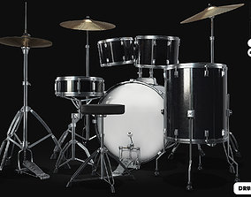 DRUM KIT 3D model animated