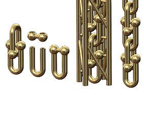 3D print model Hardware chain links for bracelete 2