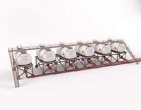 factory Oil Tanks 3D model
