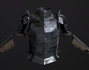 Knight Armor Low poly 3D model rigged