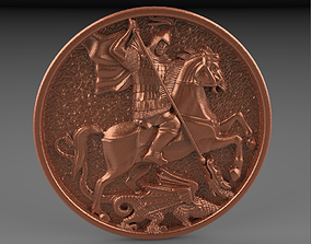 George the victorious pendants 3D printable model