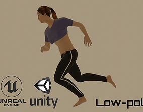 Running Girl 3D asset