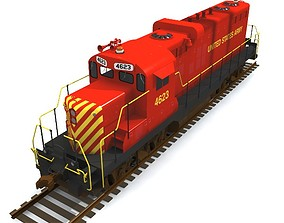 Army GP10 Locomotive 3D