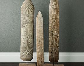 Shields Wood Standing Decoration 3D