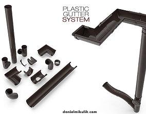 Plastic Gutter System 3D