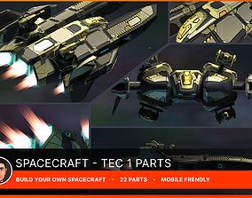 3D asset Spacecraft Tec 1 Parts