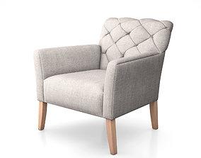 3D model Elton Chair by West Elm