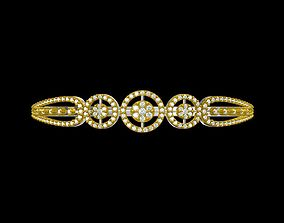 gold 3D print model Indian Jewellery Design