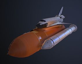 Space Shuttle 3D asset low-poly
