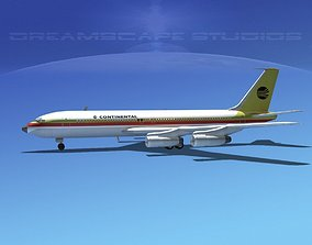 3D Boeing 707 Continental