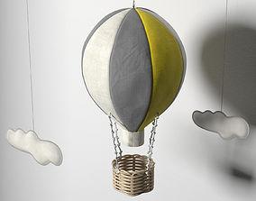 3D aircraft Hot Air Balloon