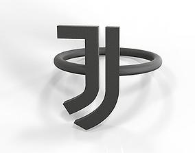 Juventus fan ring 3D print model