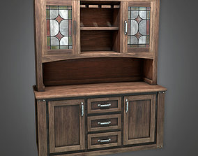 3D asset DVB - Old Wooden Cabinet - PBR Game Ready