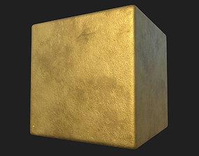 Worn Gold PBR Texture 3D model
