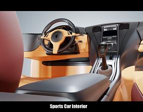 3D model Sports Car Interior