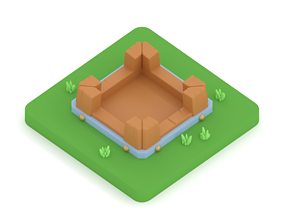 3D print model Clash of Clans Gold Storage - Level 1