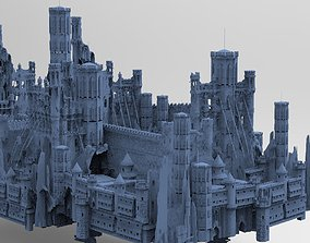 3D model Medieval Fortress Ruins for games