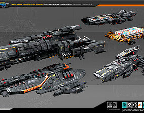 3D asset Spaceships Vol-10