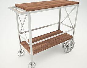 details 3D model Butler Industrial Trolley Server