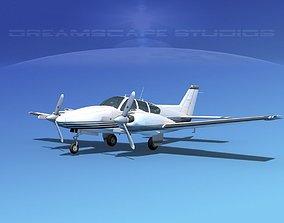 3D model Beechcraft B55 Baron V17