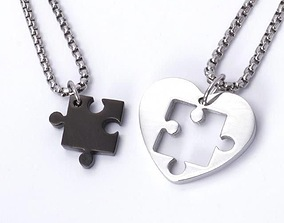 3D print model Heart Puzzle Necklace