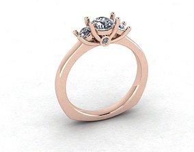3D printable model Free 3 Diamonds Engagement Ring