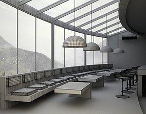 3D model Modern Restaurant Scene