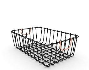 3D model Antique Pewter Decorative Wire Basket