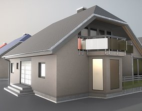 Small Low-Poly Houses Version 2 3D asset
