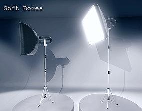 Soft Boxes 3D model