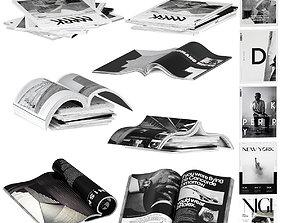 Magazines dark color 1 3D model