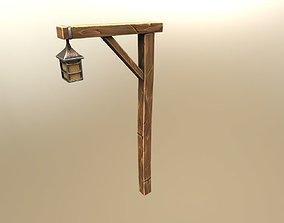 Road lamp cartoon style 3D asset