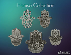 Hamsa Hand symbol collection for 3D print