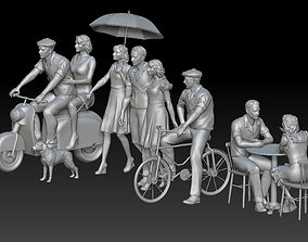 3D print model man and woman