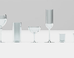 3D asset Bar Drinking glasses Set