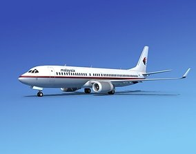 3D Boeing 737-800 Malaysia