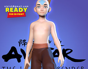 3D print model Aang - The last airbender Fanart