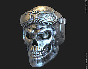 Biker helmet skull vol3 pendant jewelry 3D print model